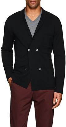 P. Johnson Men's Merino Wool Double-Breasted Cardigan