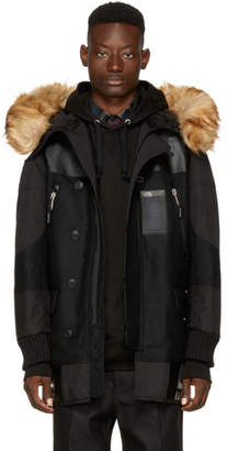 Junya Watanabe Black The North Face Edition Faux-Fur Duffle Bag Coat