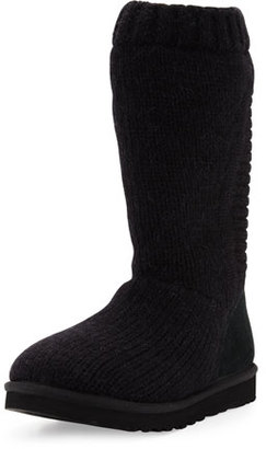 UGG Capra Tall Knit Boot, Black $195 thestylecure.com