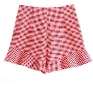 Goodnight Macaroon 'Kater' Gingham Frill Shorts