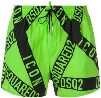 DSQUARED2 Punk Icon swim shorts