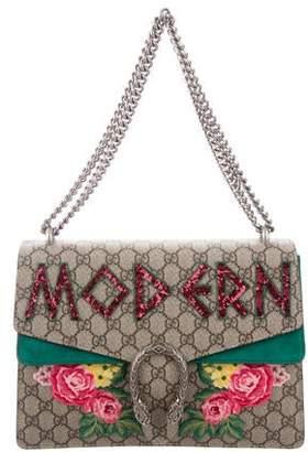 Gucci Medium Embroidered Dionysus Shoulder Bag