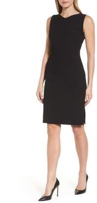 BOSS Dilamena Crepe Sheath Dress