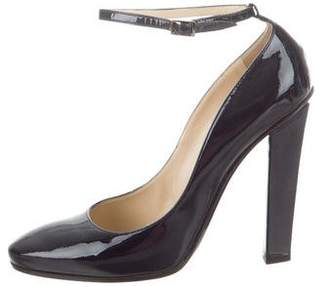 Jimmy Choo Patent Leather Round-Toe Pumps