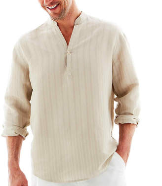 HAVANERA Havanera Long Sleeve Button-Front Shirt
