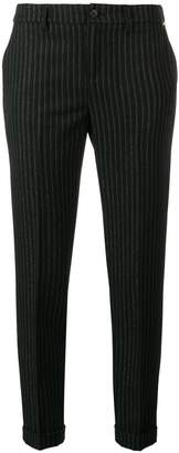 Liu Jo glitter pinstriped trousers