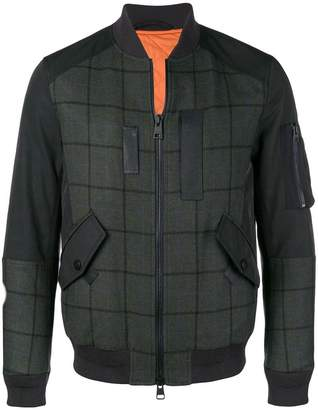 Etro checked bomber jacket