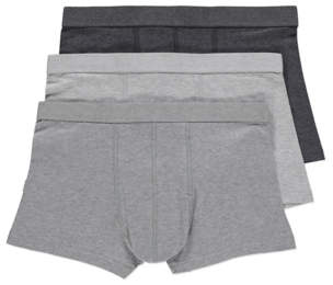 Grey Hipster Trunks 3 Pack