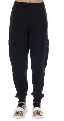 Burberry Black Cotton Fleece Sport Pants