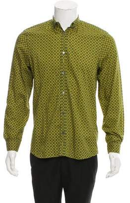 Burberry Abstract Button-Up Shirt