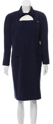 Courreges Wool Knee-Length Dress
