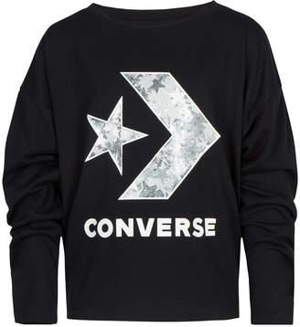 Converse Big Girls Logo-Print Oversized T-Shirt