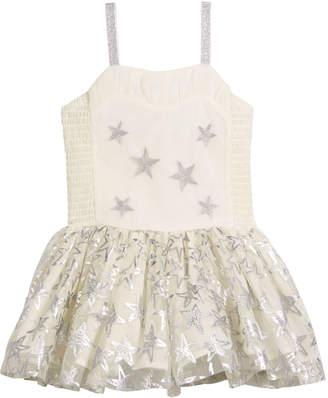 Stella McCartney Metallic Star Dress w/ Detachable Wings, Size 4-10