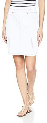 Tribal Women's Distressed Pull On Skirt