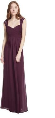 Paige Samantha Sweetheart Neckline Lace Strap A-line Chiffon Dress