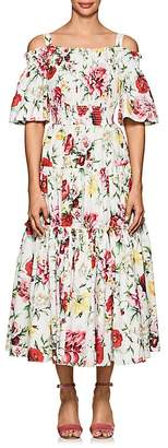 Dolce & Gabbana Women's Floral Cotton Poplin Maxi Dress