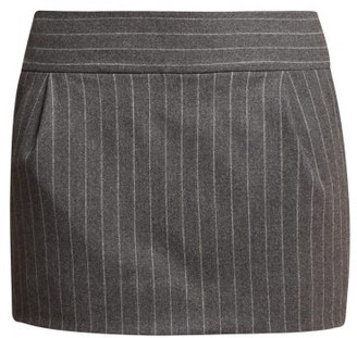Alexandre Vauthier Pinstriped Wool Blend Mini Skirt - Womens - Grey Multi
