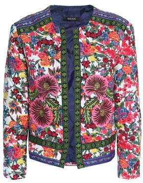 Raoul Embroidered Floral-Print Woven Jacket