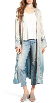 Women's Majorelle Silversage Embroidered Duster Jacket $298 thestylecure.com