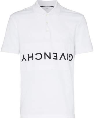 Givenchy cotton reverse logo polo shirt