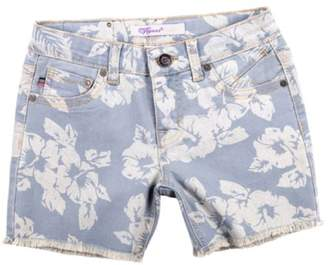 Vigoss Girls Hawaiian Floral Knit Jean Shorty Shorts