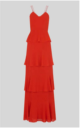 Whistles Anette Dobby Tiered Maxi Dress