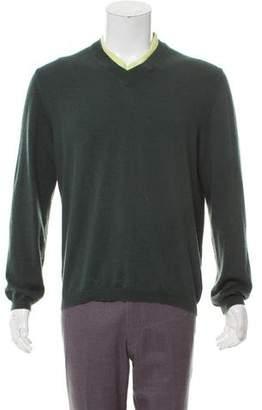 Hermes Cashmere-Blend V-Neck Sweater