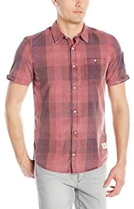Buffalo David Bitton Men's Savilica Short Sleeve Fashion Plaid Button Down Shirt