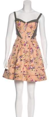 Zac Posen Z Spoke by Paneled Floral Print Dress