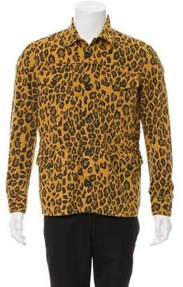 Just Cavalli Animal Print Denim Jacket