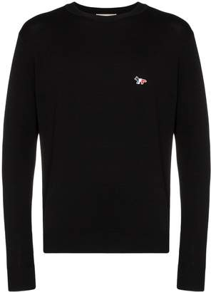 MAISON KITSUNÉ fox logo crew-neck sweater