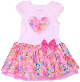 Nanette Baby Short Sleeve Tutu Dress - Toddler Girls
