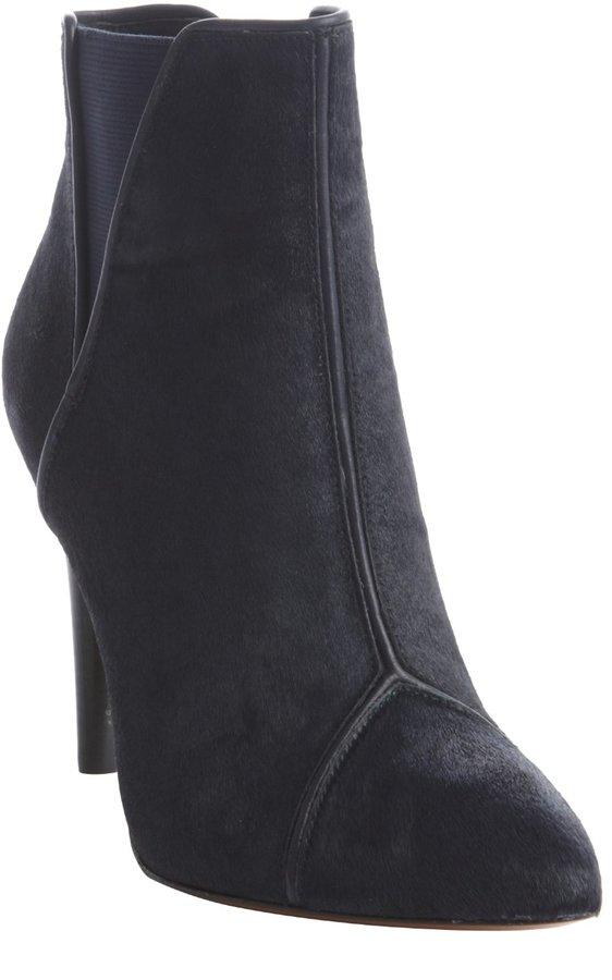 Rachel Zoe ink calf hair 'Fabian' seam detailed ankle boots
