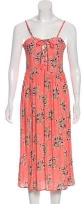 Flynn Skye Floral Print Lace-Up Dress w/ Tags