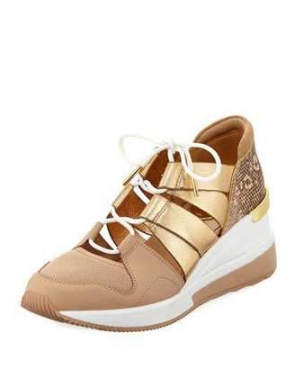 MICHAEL Michael Kors Beckett Metallic Trainer Sneakers
