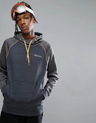 Marmot Cottonwood Performance Hoodie Raglan in Blue/Gray