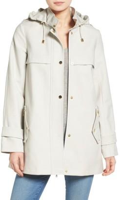Women's Trina Trina Turk A-Line Rain Jacket $375 thestylecure.com