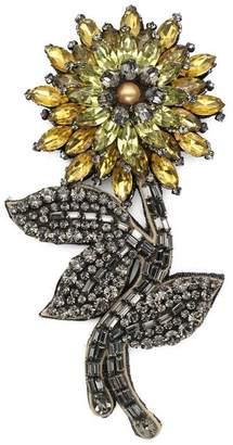 Gucci Crystal flower brooch