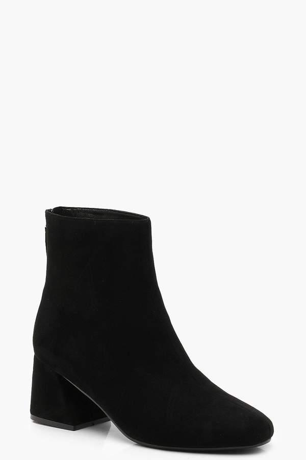 boohoo Flared Heel Shoe Boots