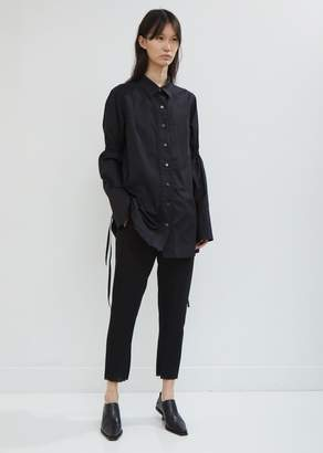 Ann Demeulemeester Cotone Button Down Blouse with Ties