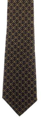 Hermes Silk Chaîne d'Ancre Print Tie