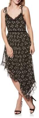 Paige Maxima Floral Asymmetrical Silk Dress