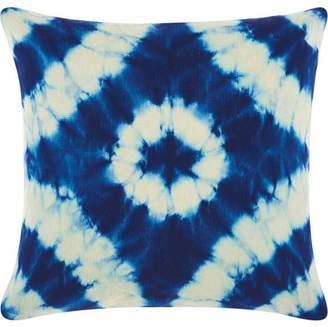 Nourison Allegria Tie Dye Indigo Throw Pillow