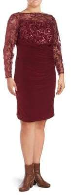 Sequin Embroidered Lace Sheath