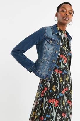 Oasis Womens Blue Nancy Denim Jacket - Blue