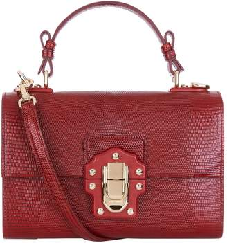 Dolce & Gabbana Lucia Embossed Leather Shoulder Bag
