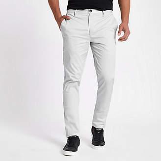 River Island Grey slim fit chino pants
