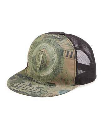 Givenchy Dollar-Print Flat-Billed Hat, Olive $495 thestylecure.com