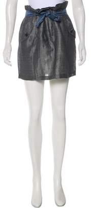Rag & Bone Linen Belted Skirt