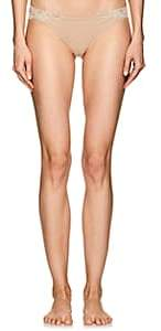 La Perla Women's Souple Cotton-Blend Jersey & Lace Thong-Nudeflesh